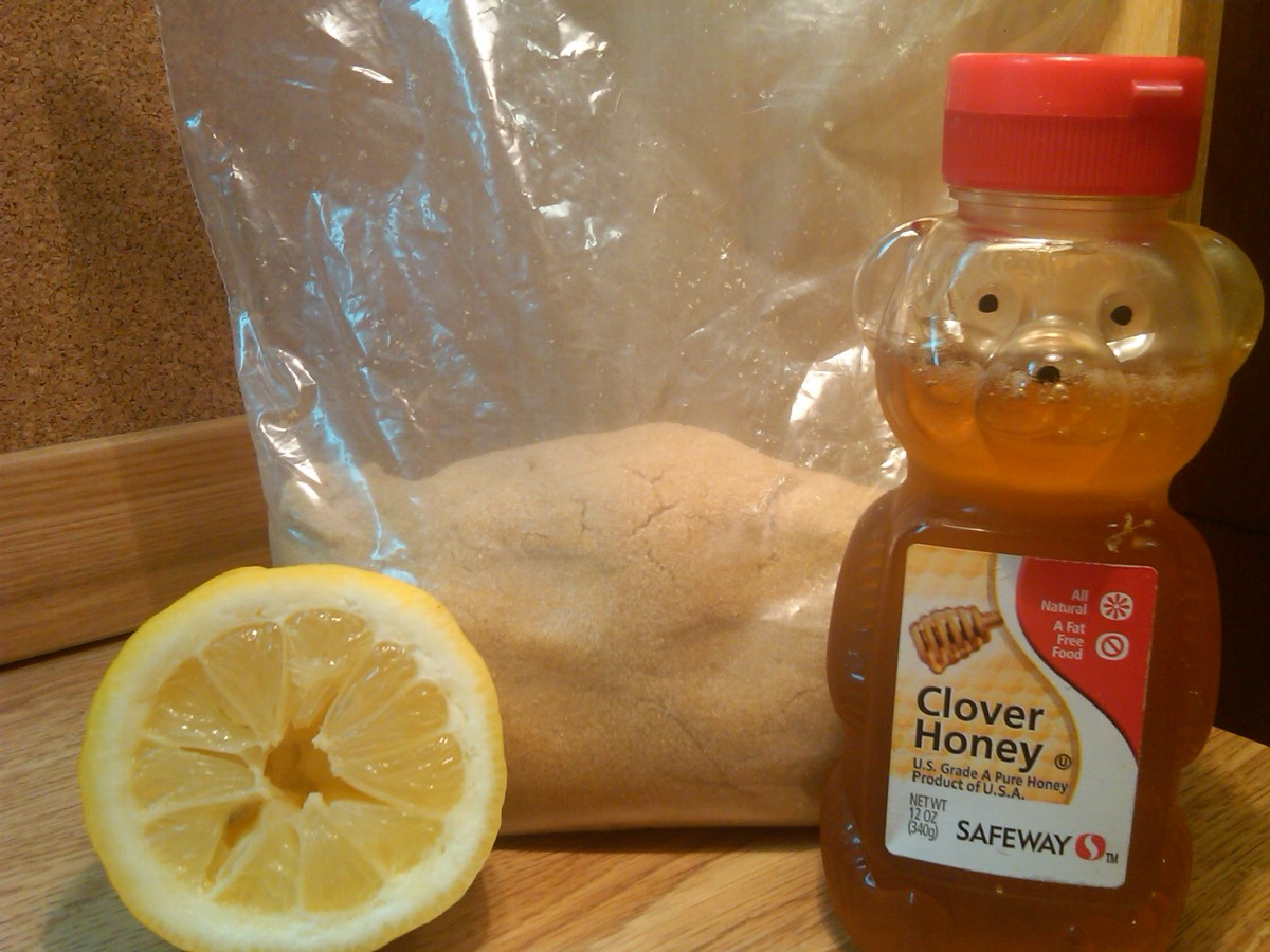 Ingredients for homemade sugar wax.