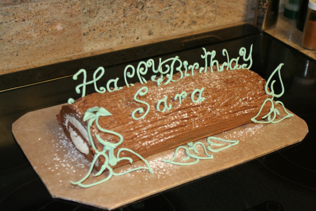 Lettering done in chocolate