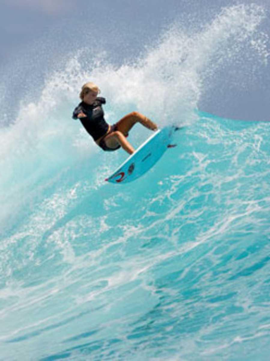 Bethany Hamilton is back on her surf board.