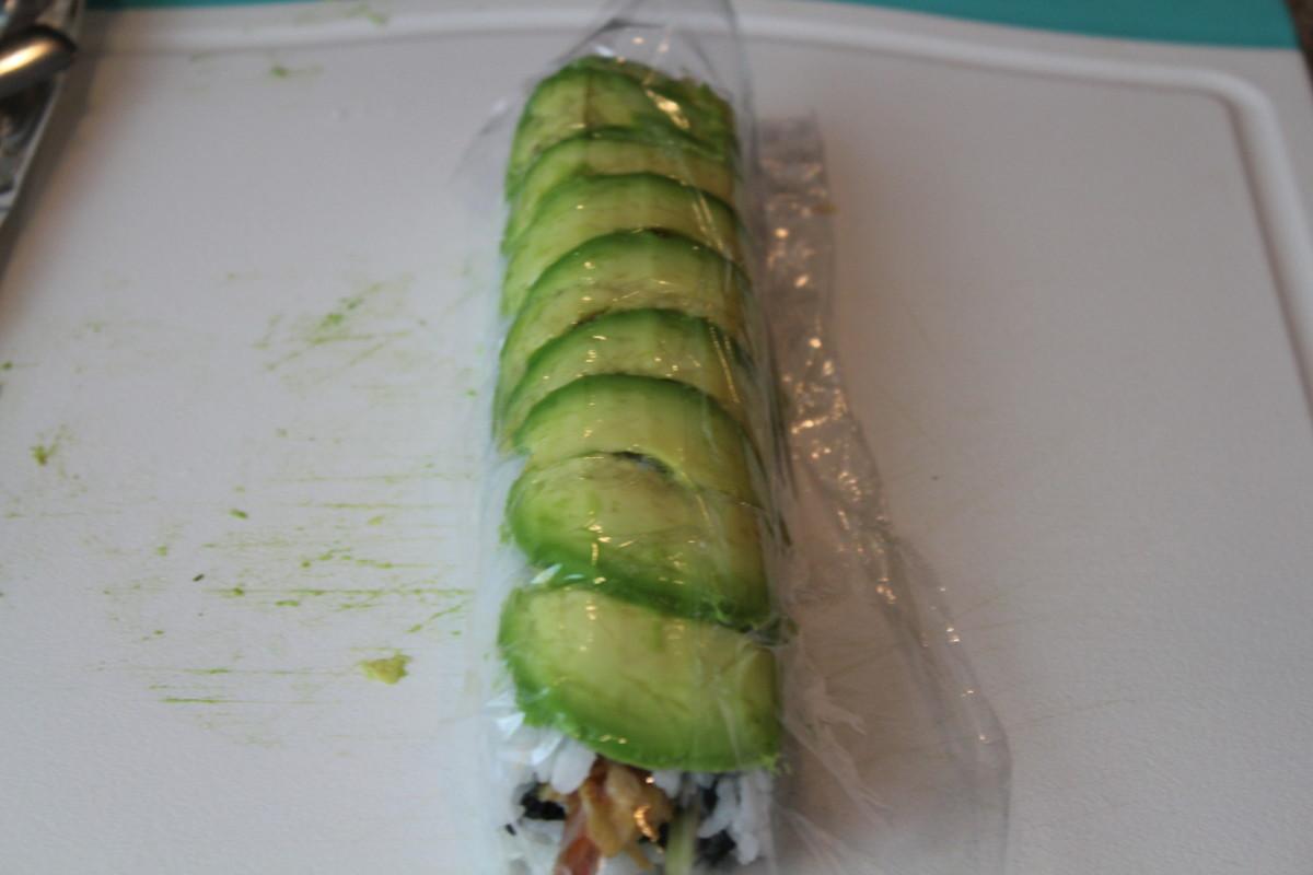 How to Make a West Palm Beach Shrimp Tempura Sushi Roll with Avocado on Top