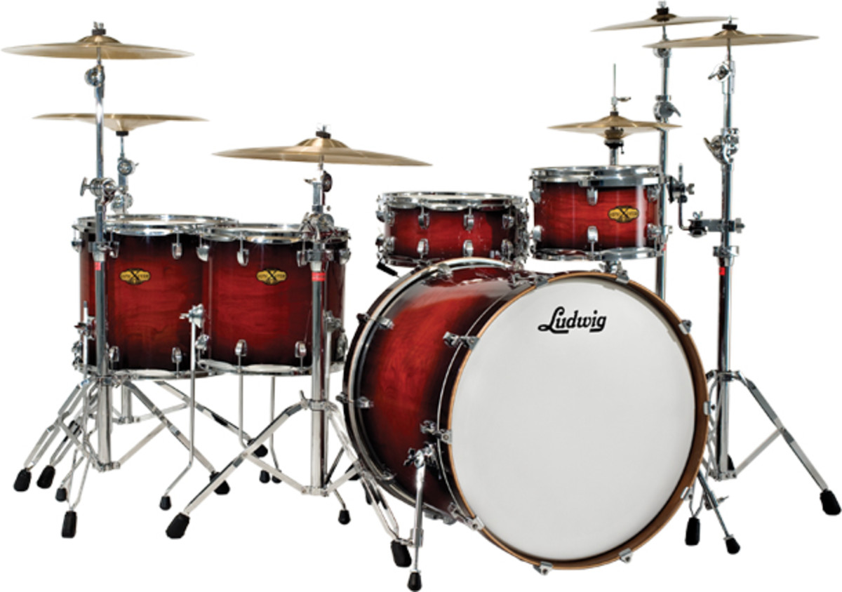 "In the past, Ludwig was considered by a select number to be the ""luxury drum set"" of the world, for its relatively high price."
