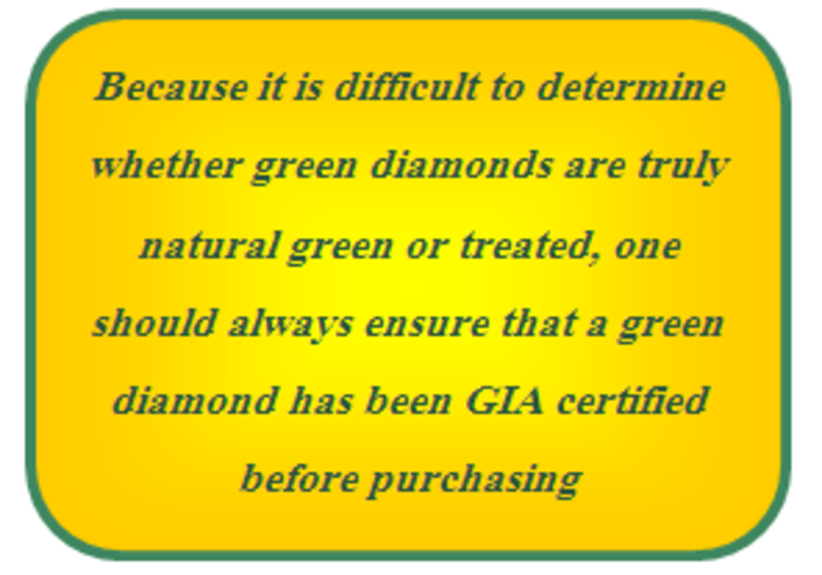 Tip for buying a green diamond