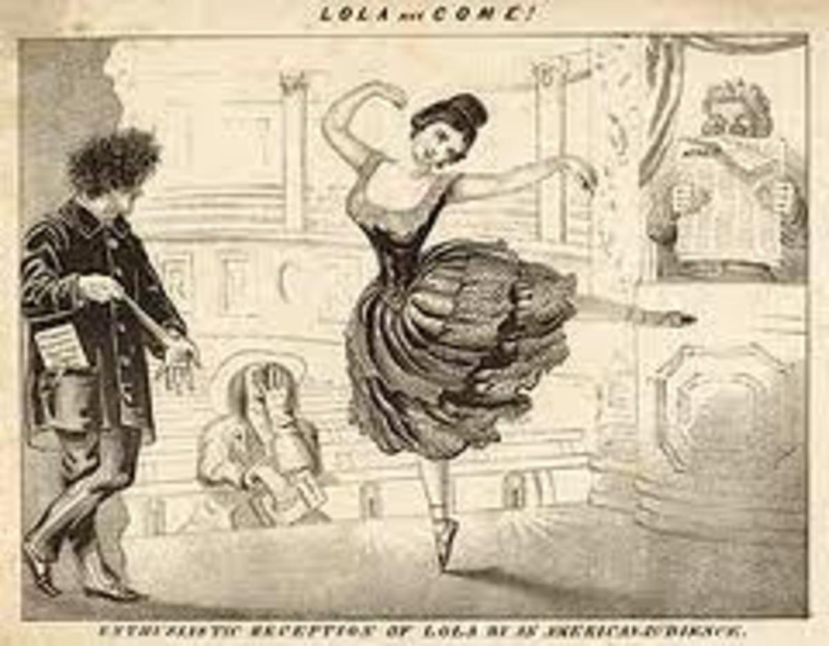 Sketch of Lola dancing.