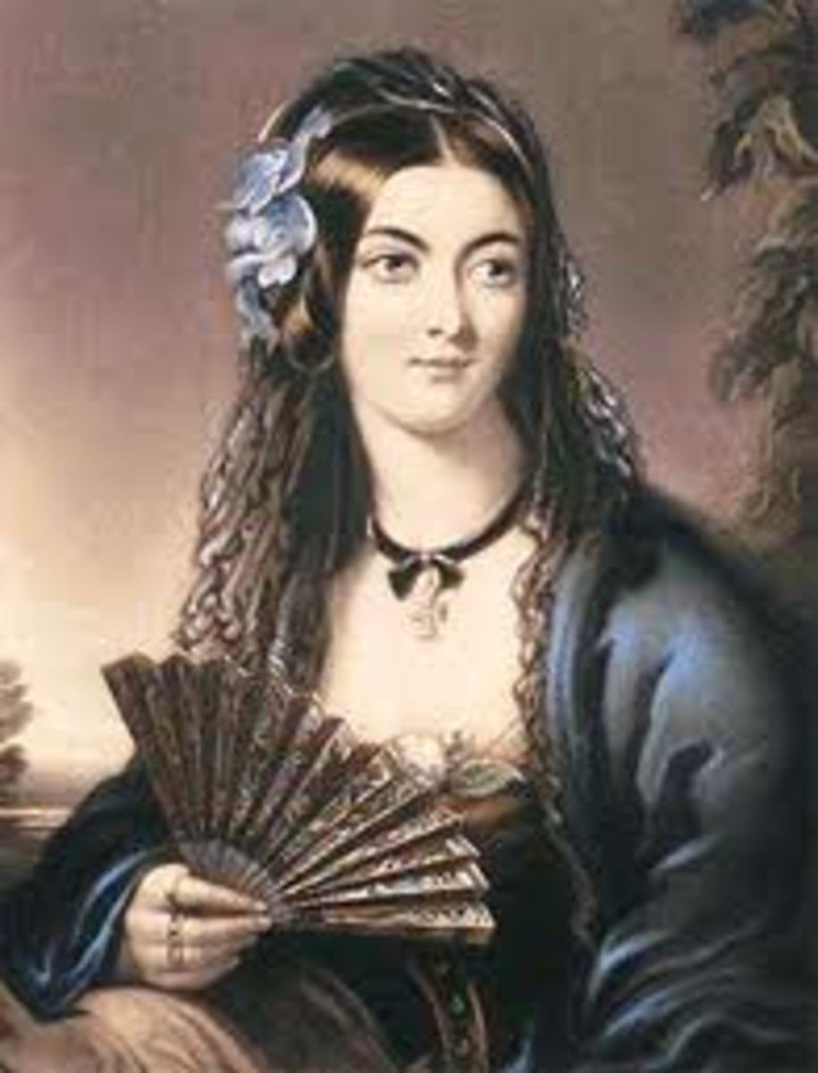 The life and career of the beautiful and notorious Lola Montez, mistress of Ludwig I of Bavaria.  Her Spider Dance.