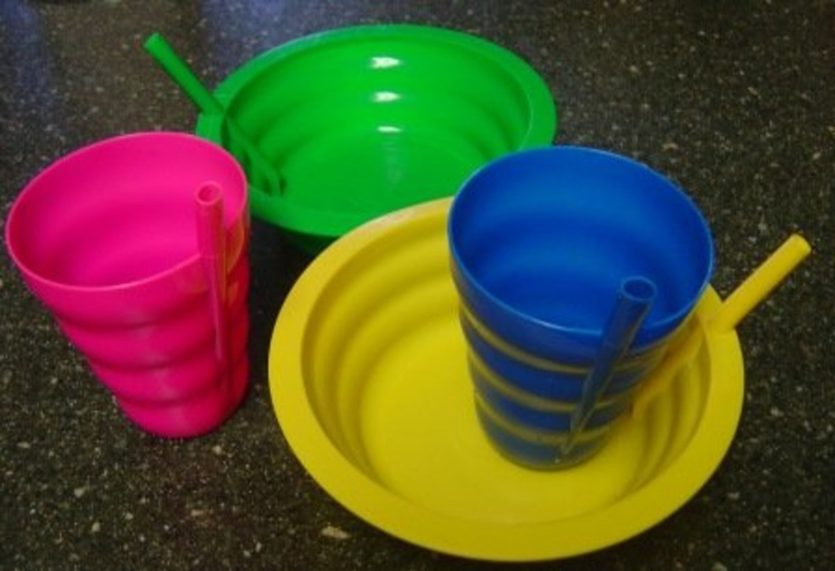 Toddler Kids Sippy Cups & Bowls. How To Clean Those Built-In Straws