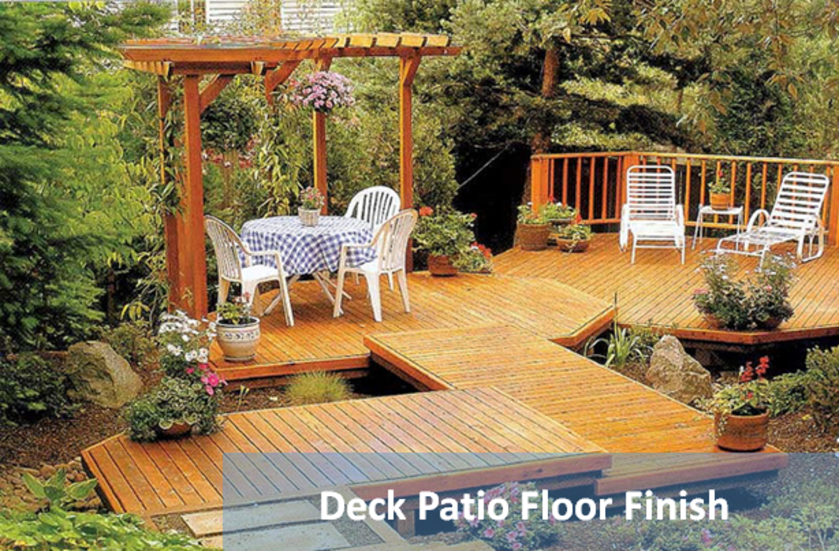 Deck style flooring weathers naturally and pleasantly over time and can be bleached, painted, oiled or stained to enhance all other elements of a patio design.