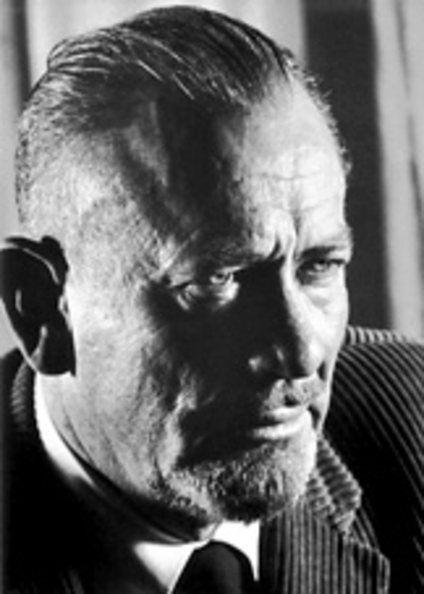 "John Steinbeck, author of ""Of Mice and Men."""