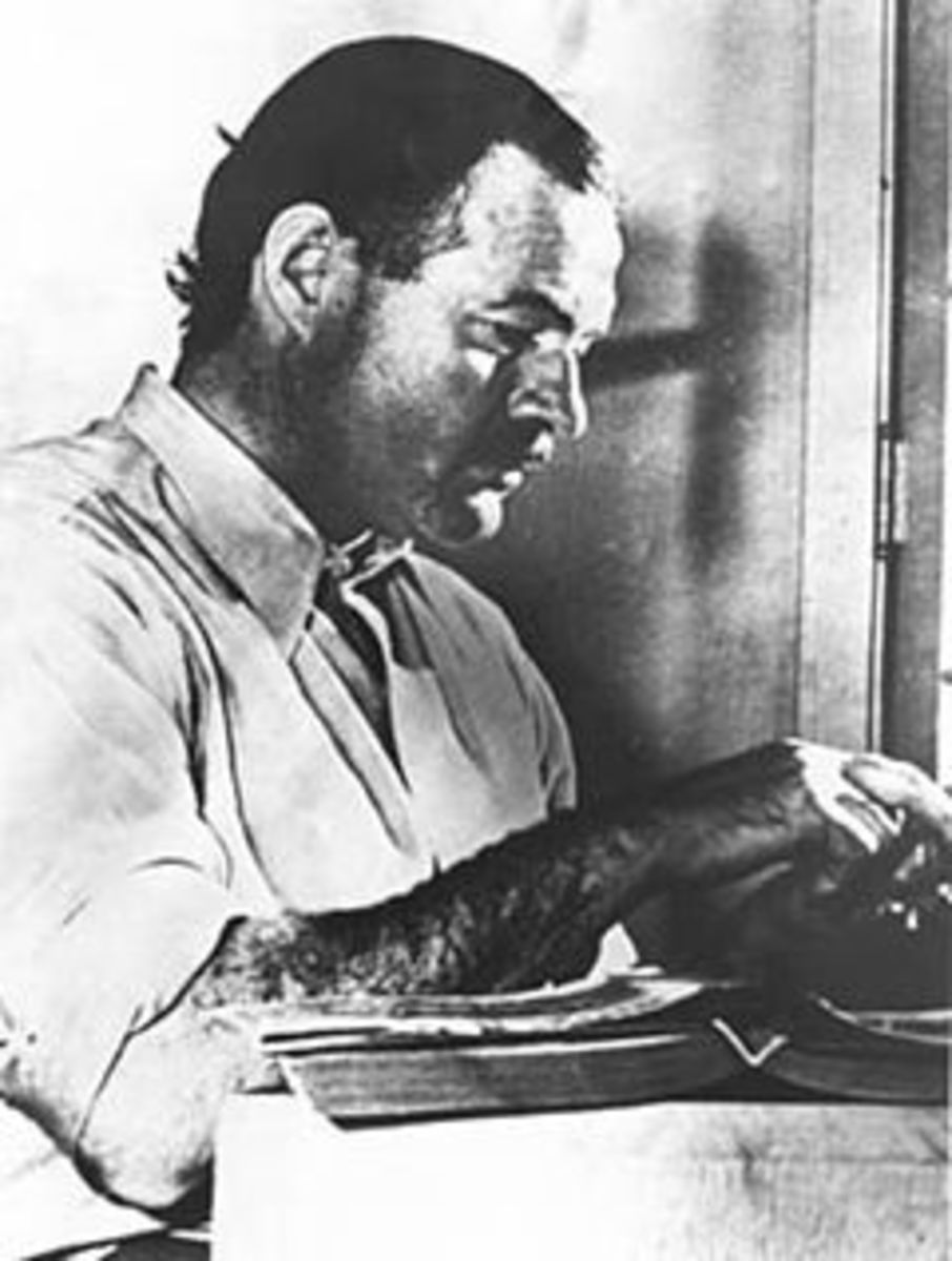 """Ernest Hemingway, author of """"The Old Man and the Sea."""""""