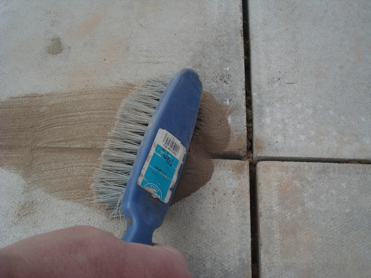 Brush the mortar into the joint