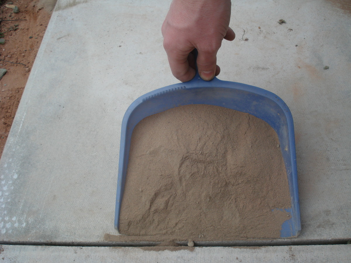 Pour dry mortar into the joints
