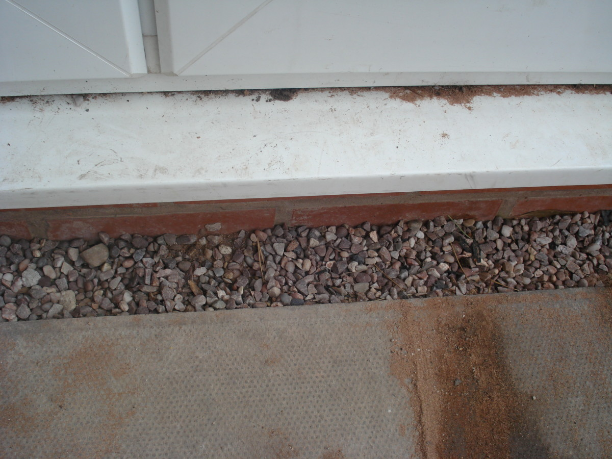 Gravel margins allow for small measuring errors as well as preventing splashback from rain making your wall damp