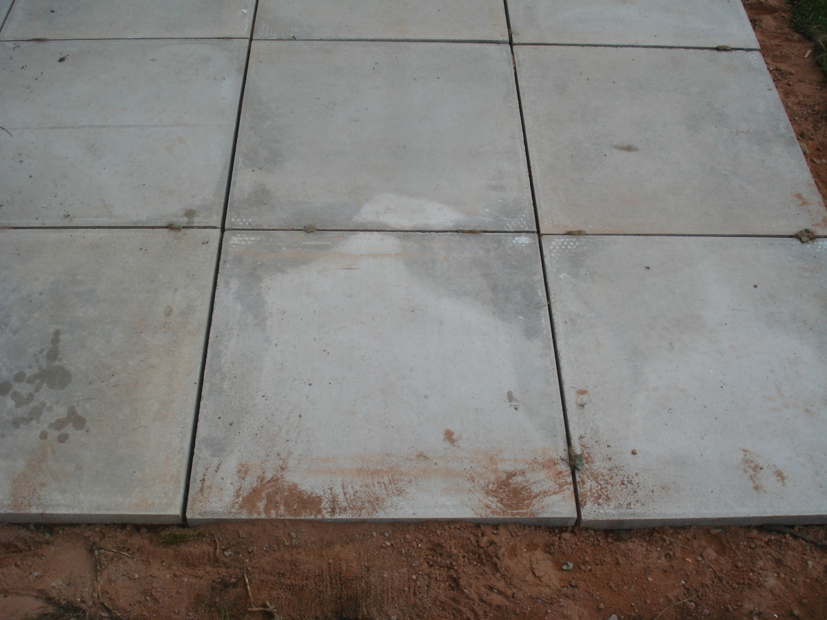 Patio before joints are filled