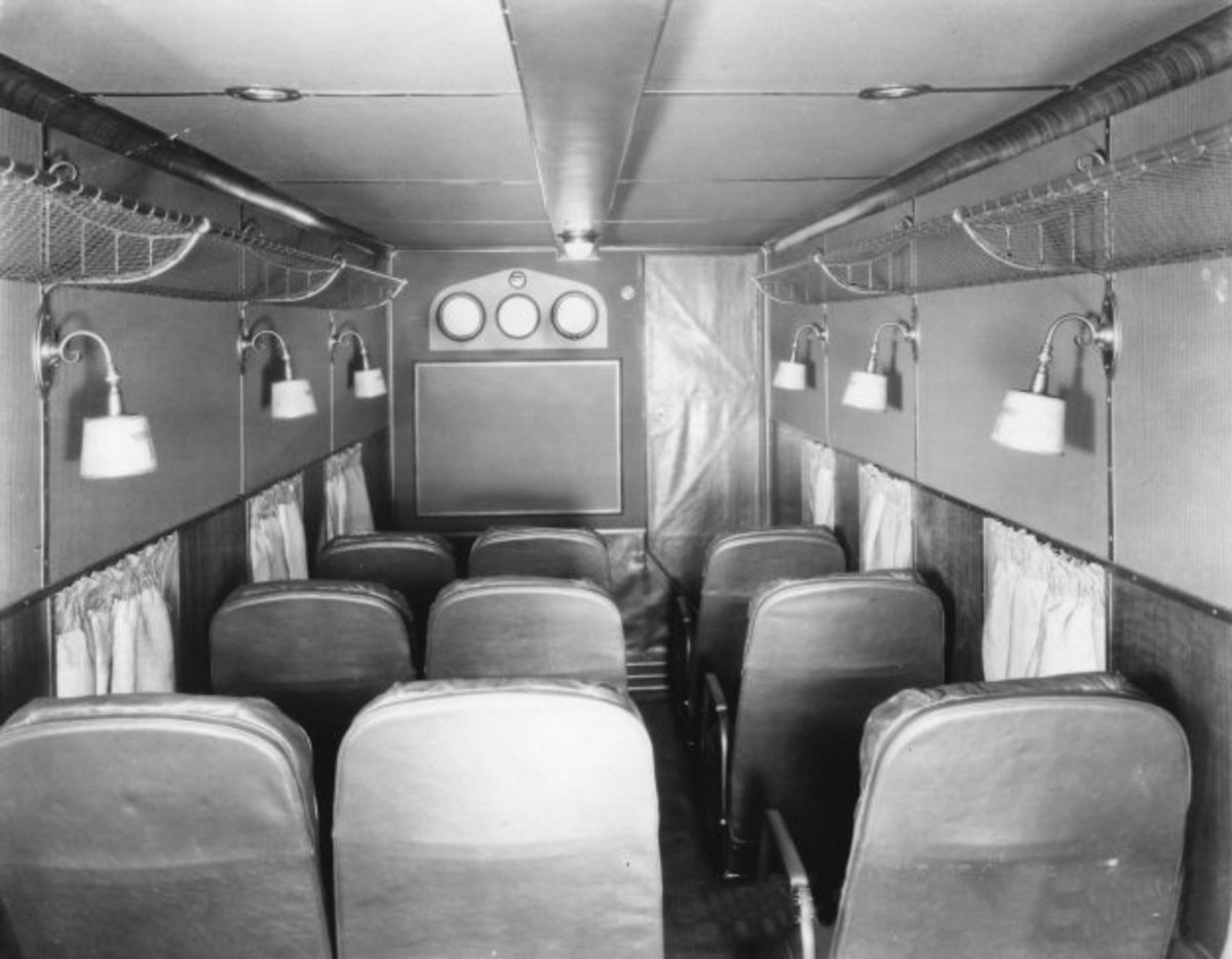 BOEING 80 PASSENGER COMPARTMENT, 1930s
