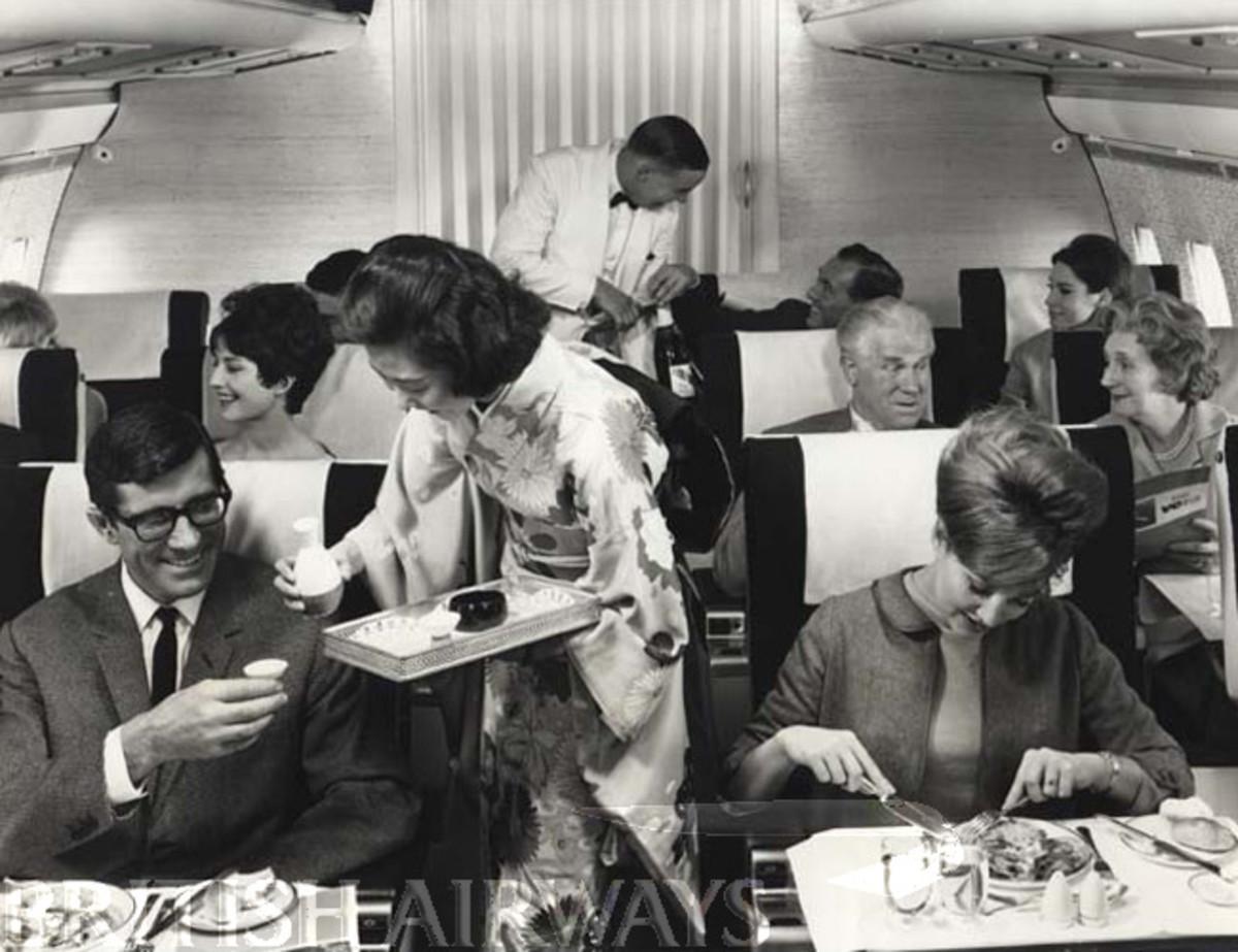 PASSENGER AIRLINE SERVICE, 1960, BOAC