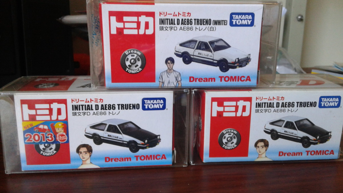Interestingly, Tomica has re-launched Initial D diecasts in its Dream Tomica series last 2013. A hub was dedicated to this which can be found on the link below