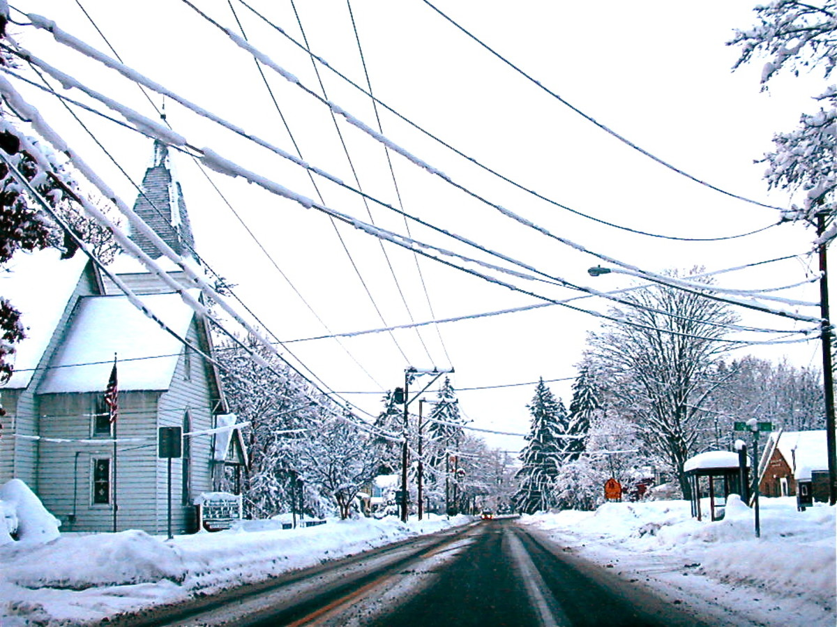 Winter in Freeville, New York.  A typical winter day.