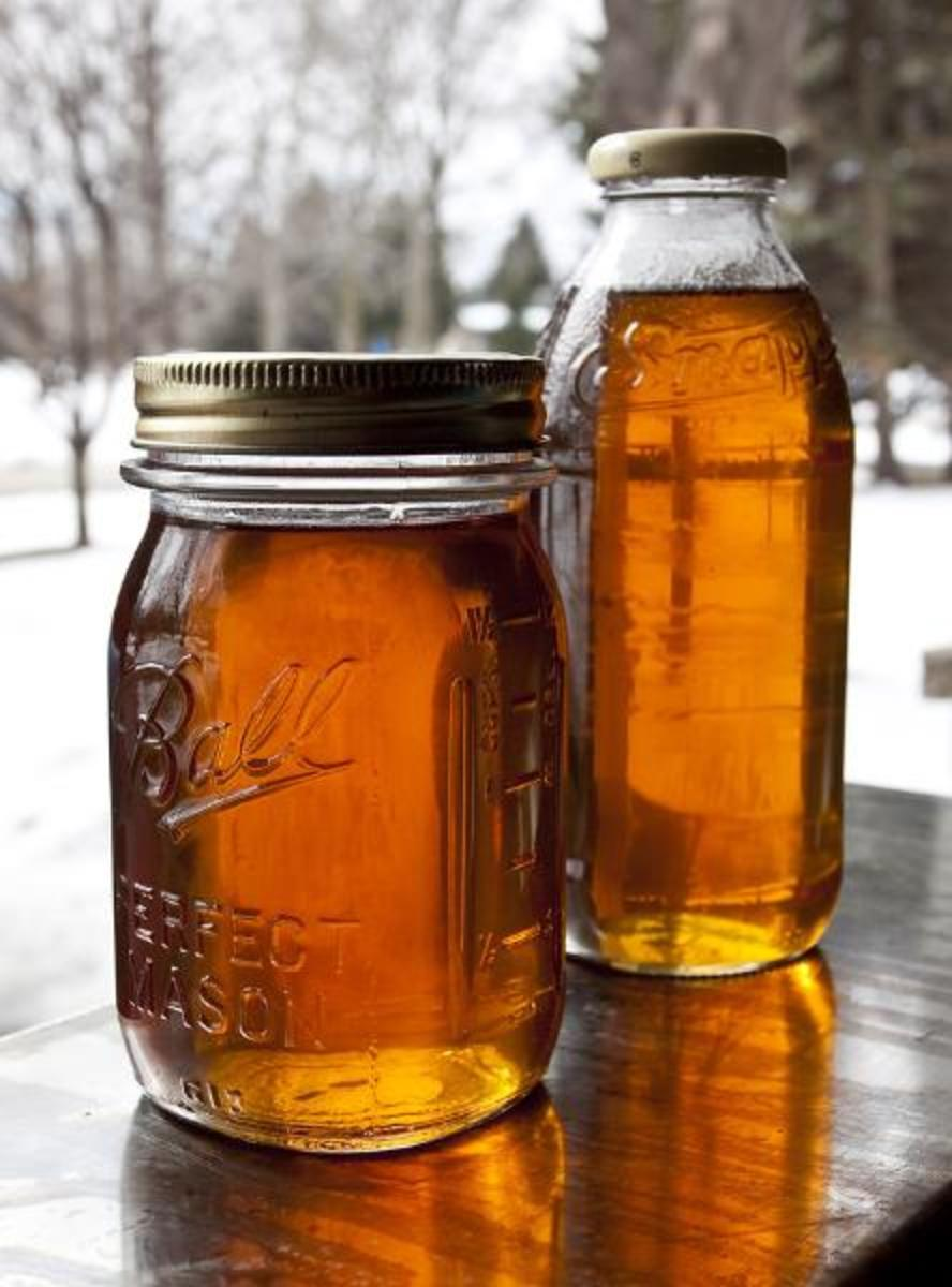 Homemade maple syrup...mmmmm.....