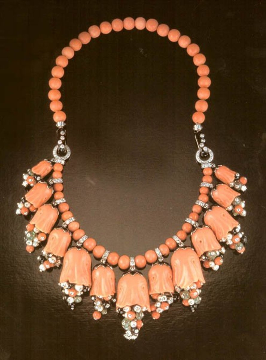 "CARTIER ""MARIA FELIX"" CORAL NECKLACE"
