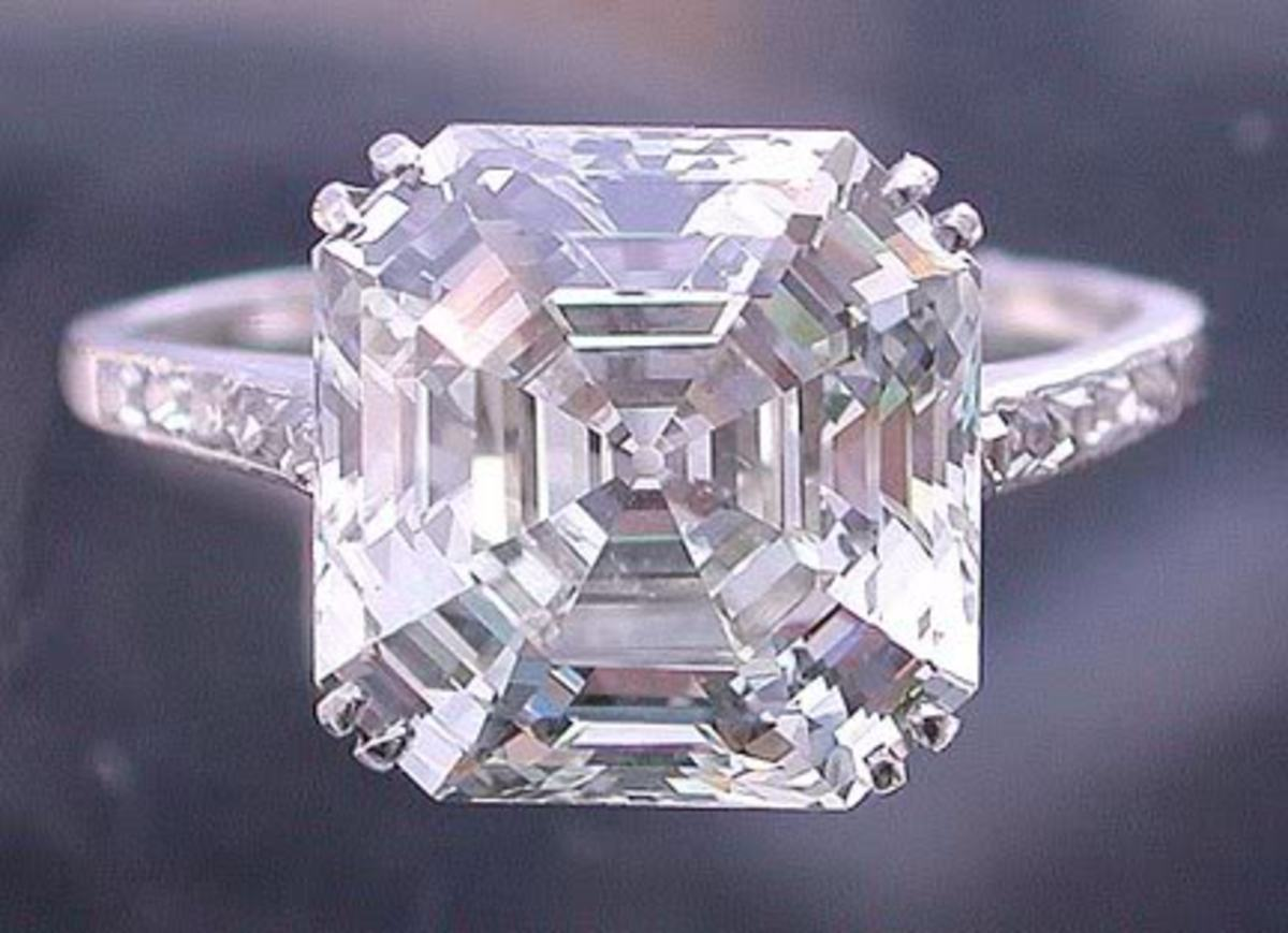 CARTIER ASSCHER RING