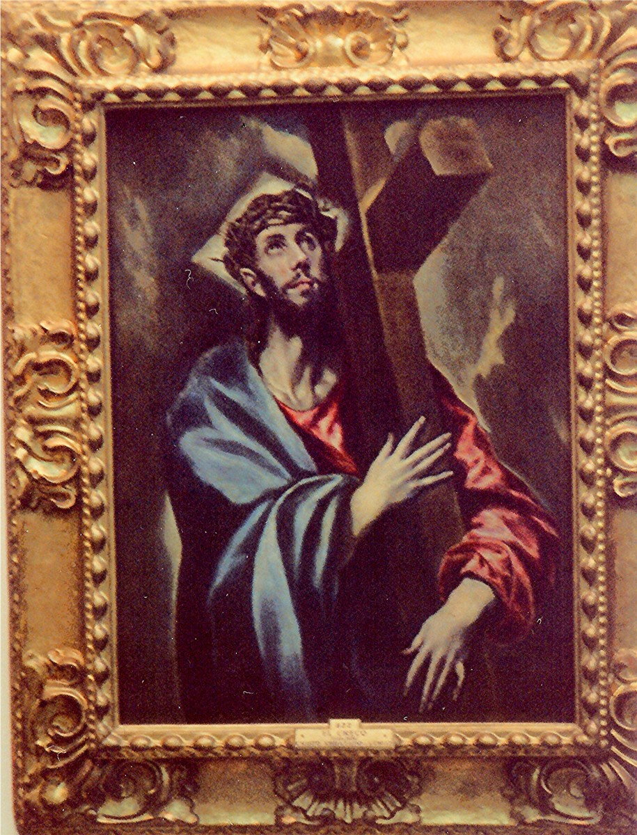 Christ Carrying the Cross by El Greco in the Prado Museum