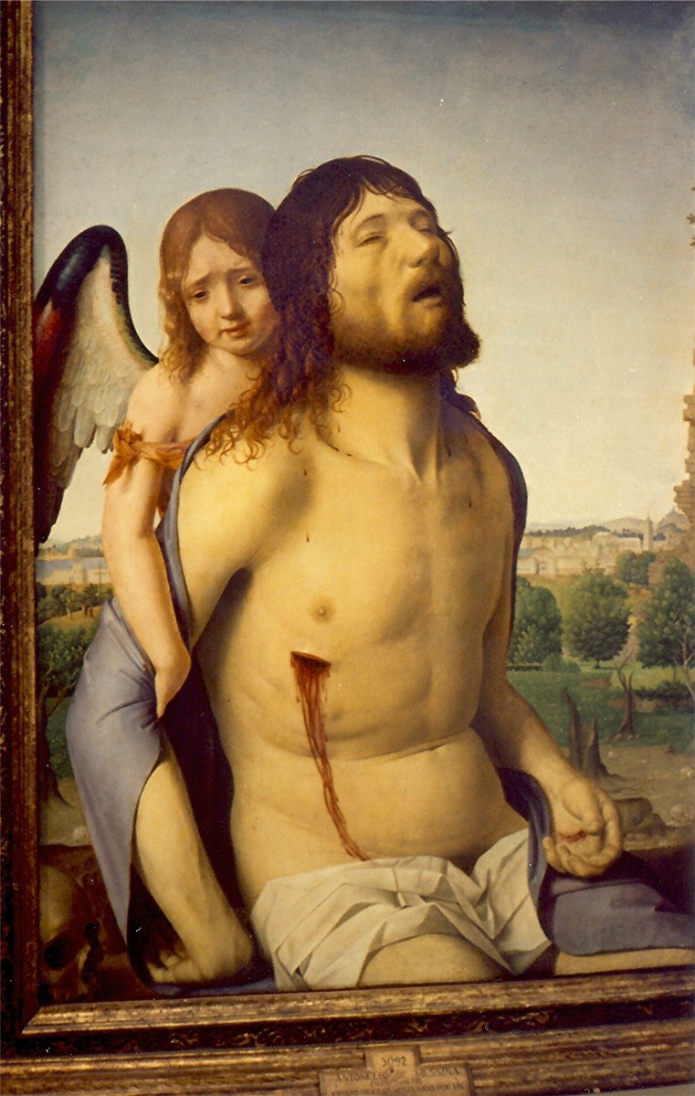 "Antonello's ""The Dead Christ Supported by an Angel"""