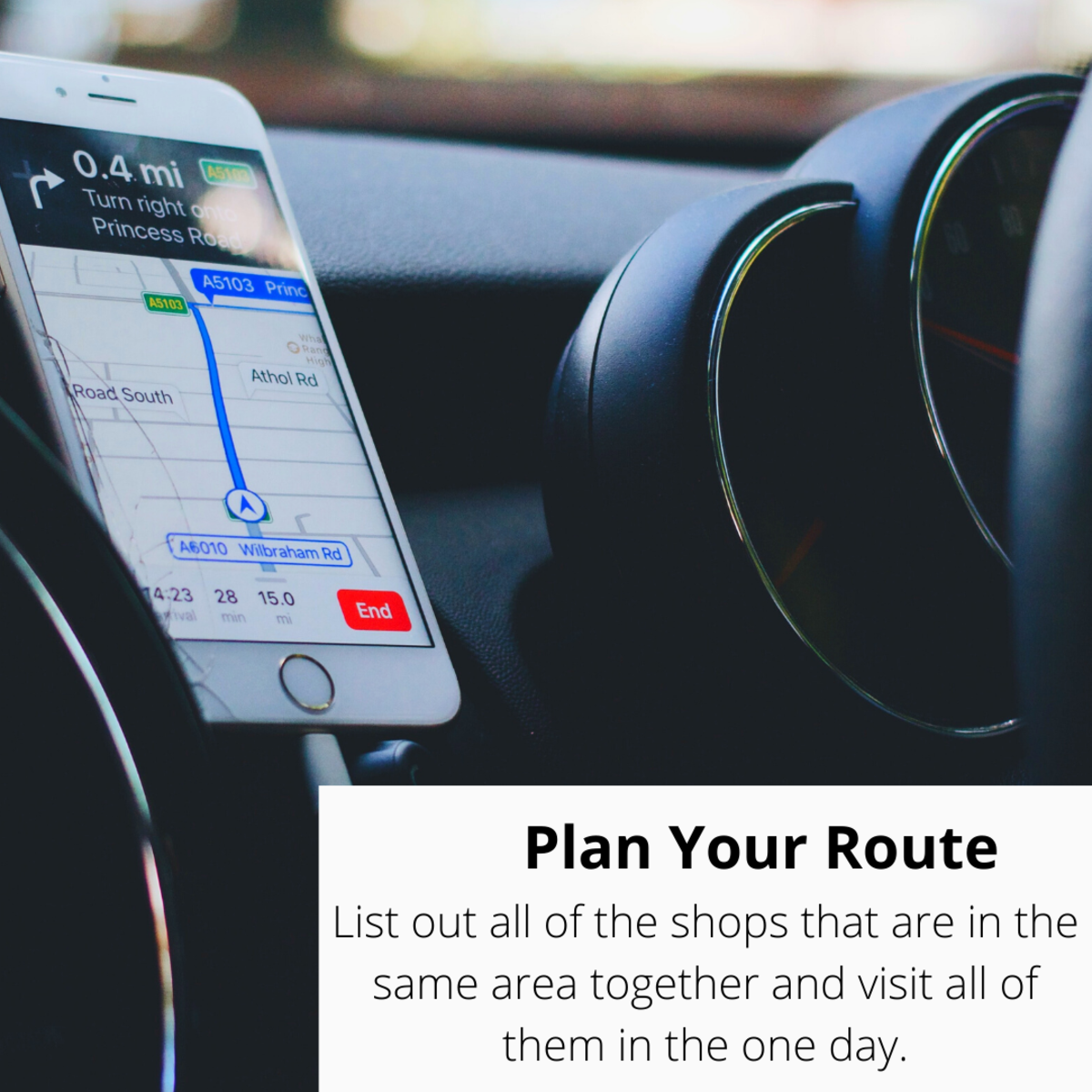 Plan your route in advance.