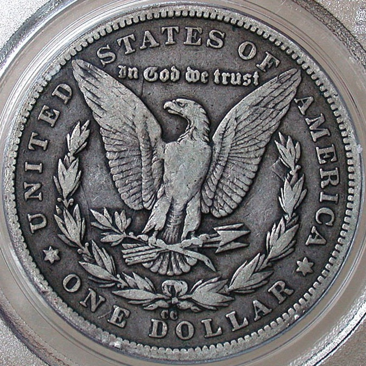 Morgan Silver Dollar Reverse. Showing Carson City (CC) Mintmark. Photo Courtesy: coinpage.com