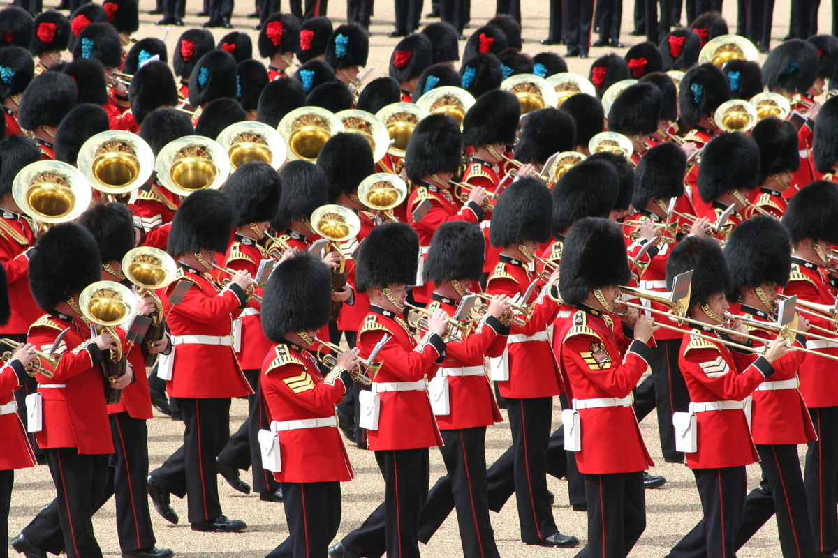 The procession performed during the Trooping the Colour ceremony originated in the 17th century CE.