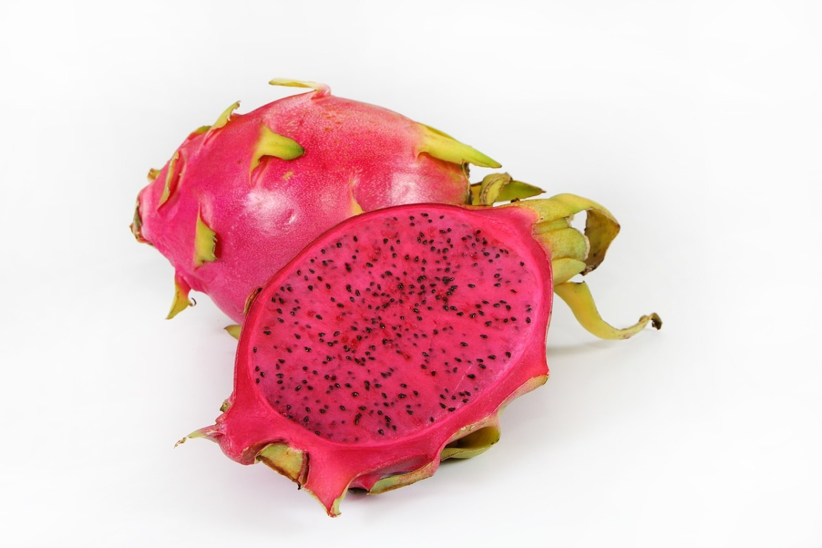 The flesh can be red as well as white in dragon fruit.