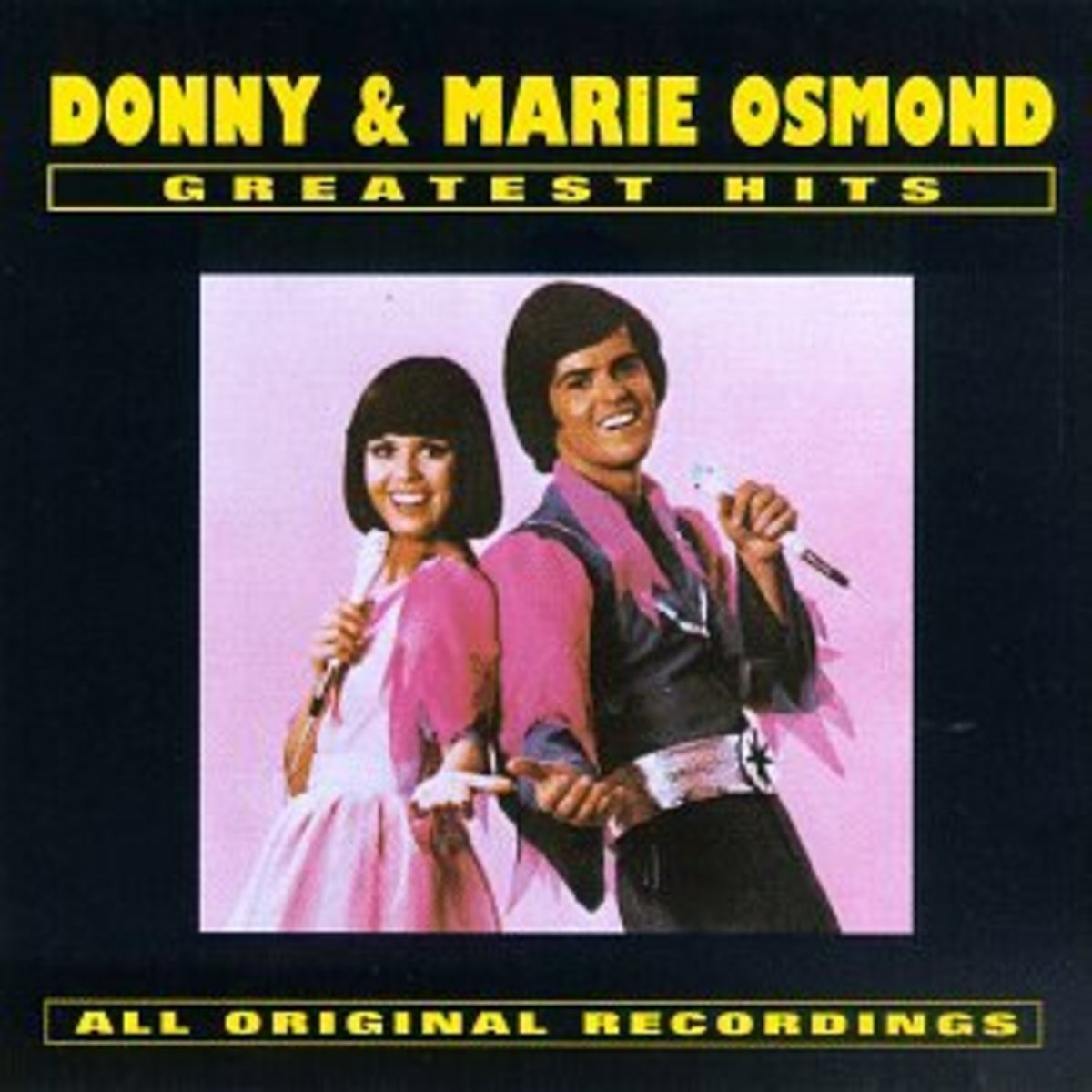 "The Donny and Marie Osmond greatest hits album which includes their hit song ""I'm Leaving it All Up To You"" and other greats."