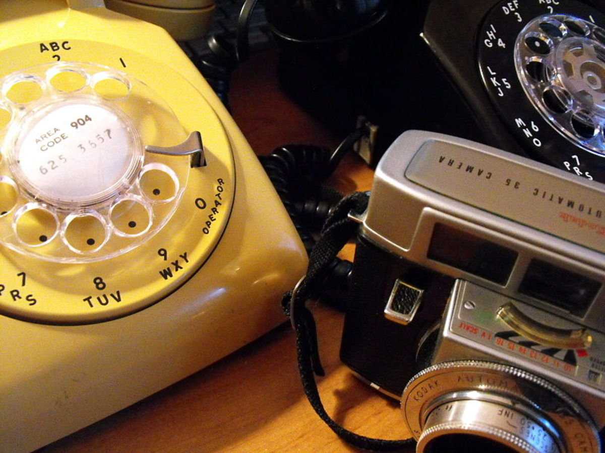 Classic dial phones from the 1960s