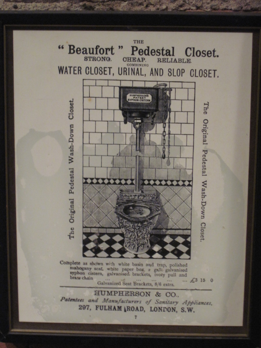 Photo of Ad for Thomas Crapper Toilet on Display at Seattle Washington's Underground Seattle