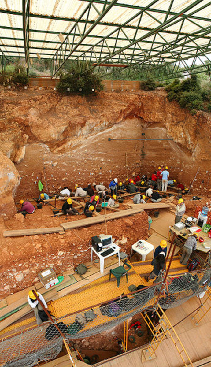 Excavation site at Gran Dolina in Spain
