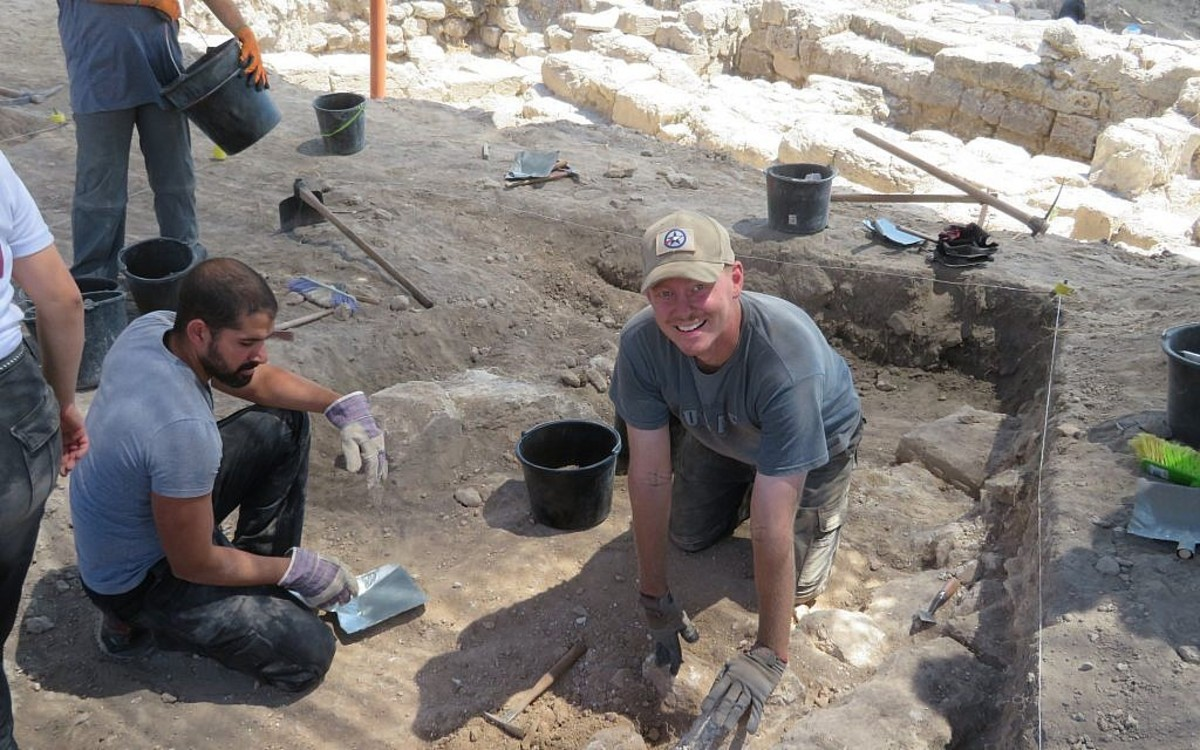 Archaeologists hard at work