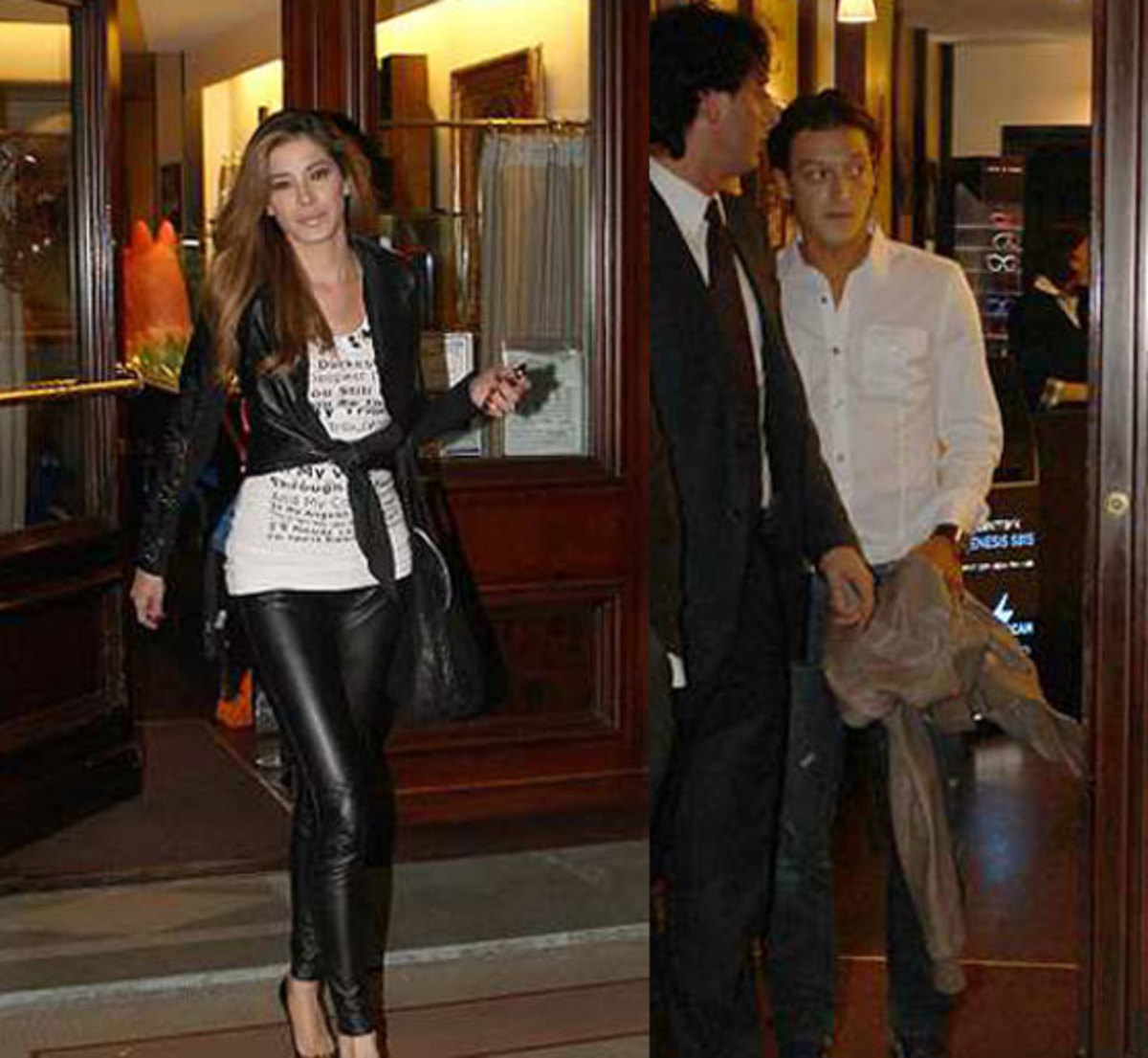 Ozil is caught while dating with his new girlfriend Aida Yespica.