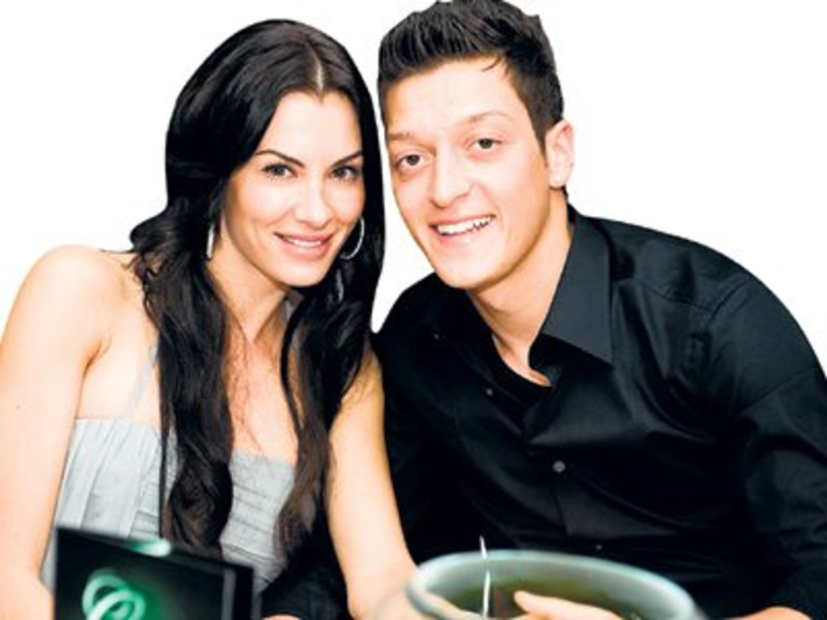 Mesut Ozil with his ex-girlfriend Anna Maria.