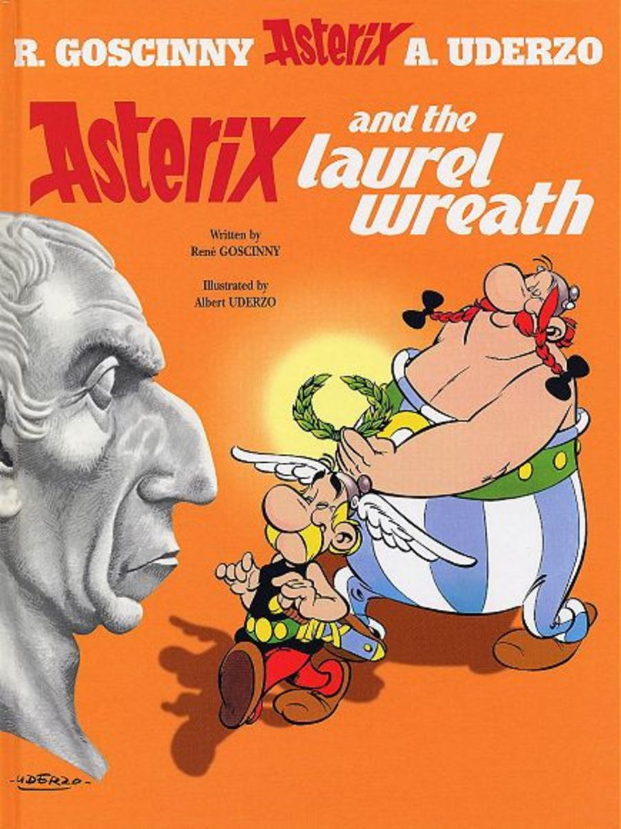 A drunk Vitalstatistix wagers to his crass brother in law that he could get something money can't buy- a stew seasoned with Caesar's laurel wreath. Obelix volunteers himself and Asterix leading to chaos and mayhem!