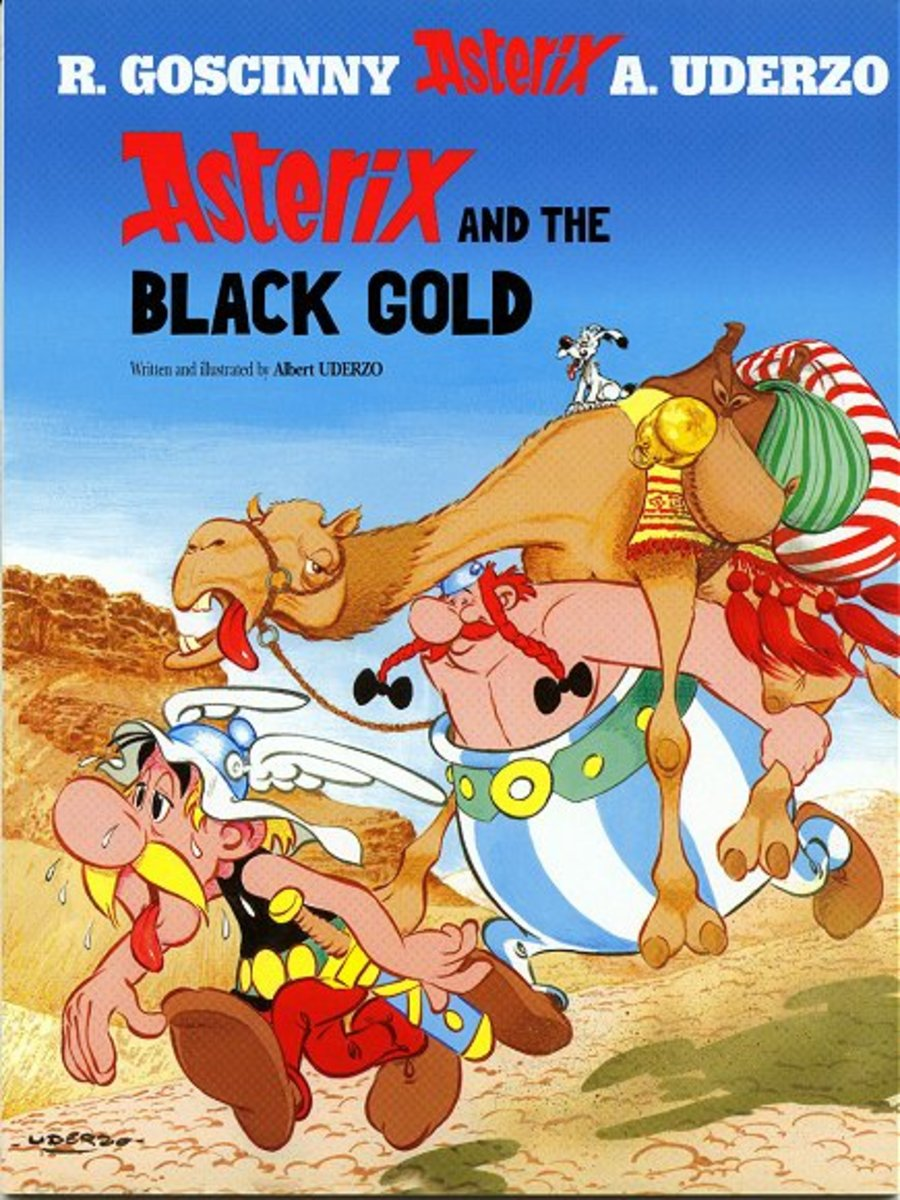 A worried Getafix is waiting rock oil from Ekonomikrisis as it is vital to his magic potion. Rome deploys agent Dubbleosix to sabotage our heroes on their travels to Middle East to acquire some black gold.