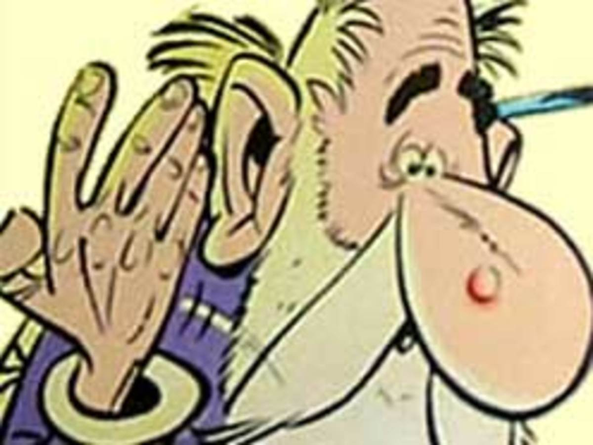 Sigmund Freud as 'Psychoanalytix' in Asterix and the Big Fight