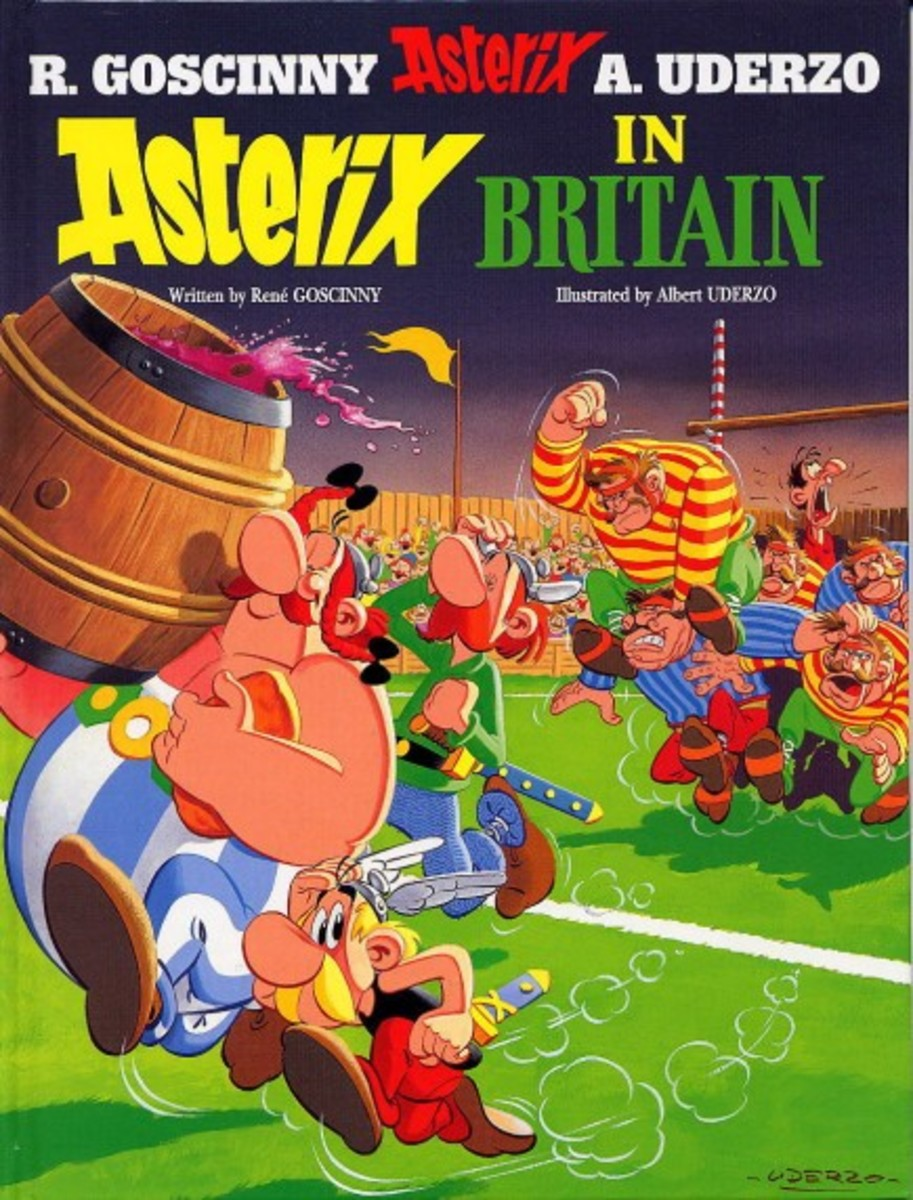 Cesar invades Britain (as the latter dont fight over weekends!) and a small village stands against him there too. Asterix's cousin Anticlimax is dispatched to Gaul to seek help. Our heroes accompany him back for an adventure.