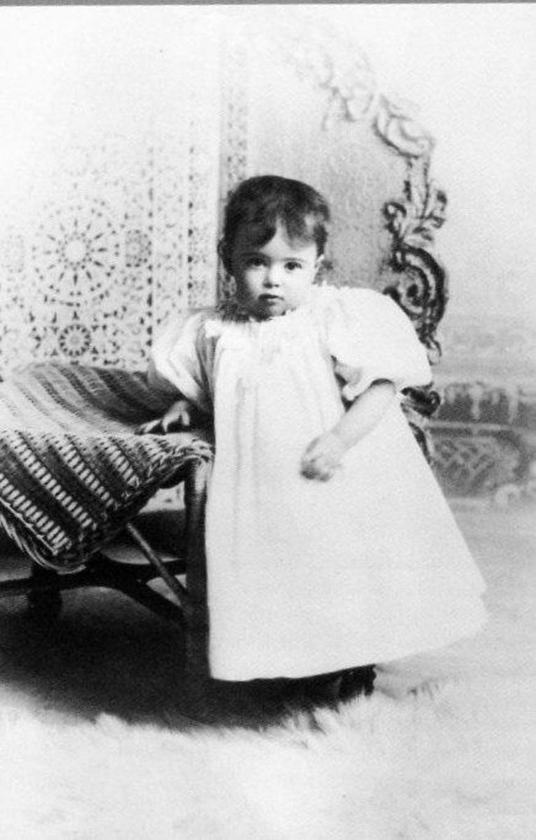 Martha Graham in her toddler years.