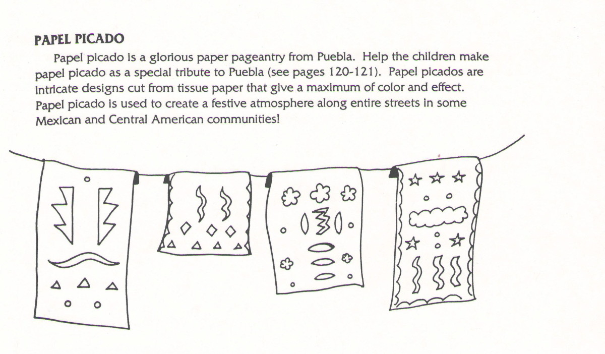 Papel Picado Template For Kids - iwate-kokyo
