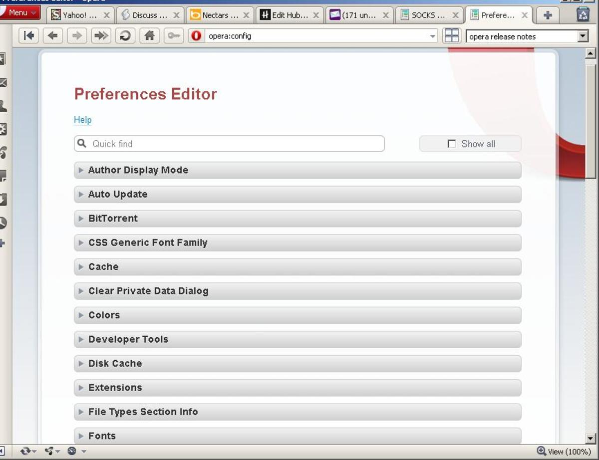 Opera Preferences Editor