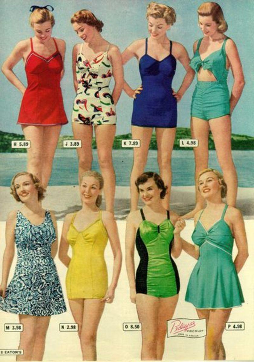 !948 vintage swimsuite catalogue. Image from bernicebobsherhair.blogspot