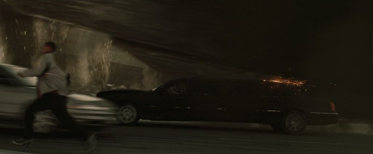 Pictured: A car holding up a highway. How is this even possible?