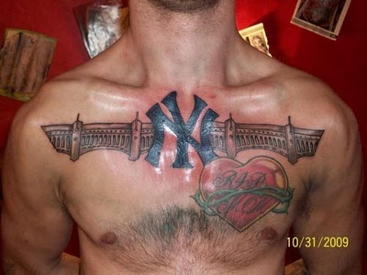 new york yankees tattoos. Black Bedroom Furniture Sets. Home Design Ideas