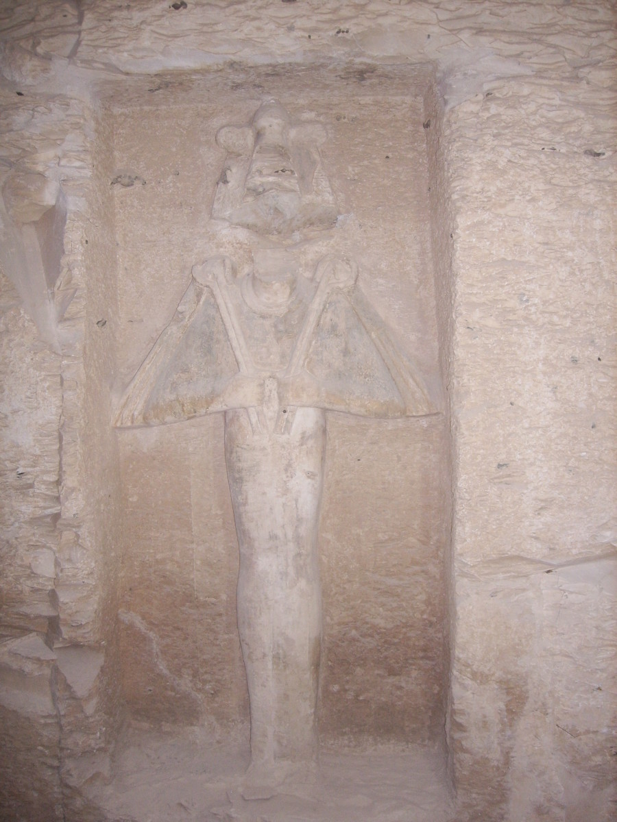 Carving in KV5 in the Valley of the Kings