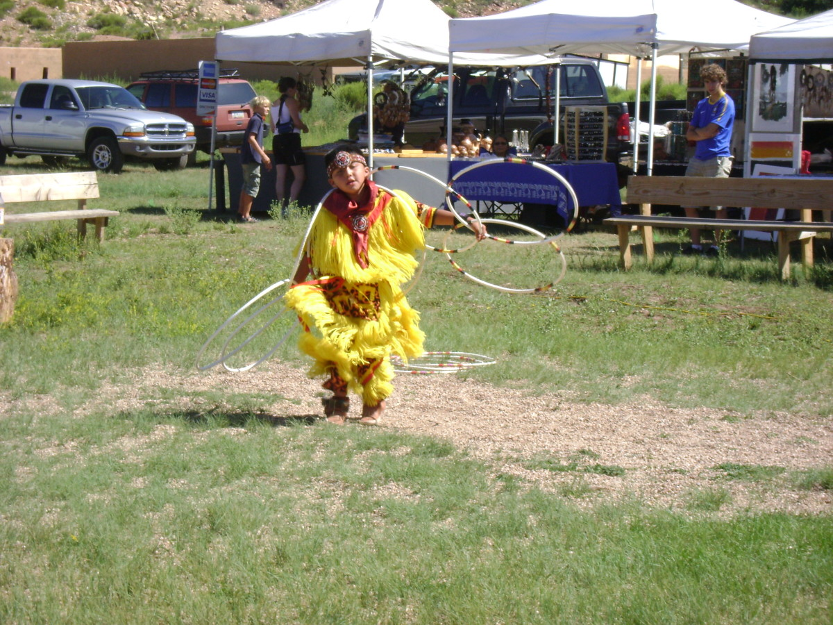 Native American Hoop Dancer in Tusayan