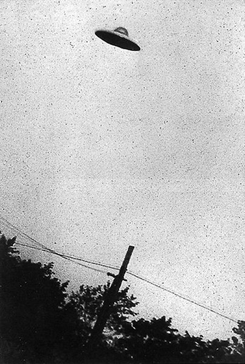 Photograph of a UFO taken in 1952