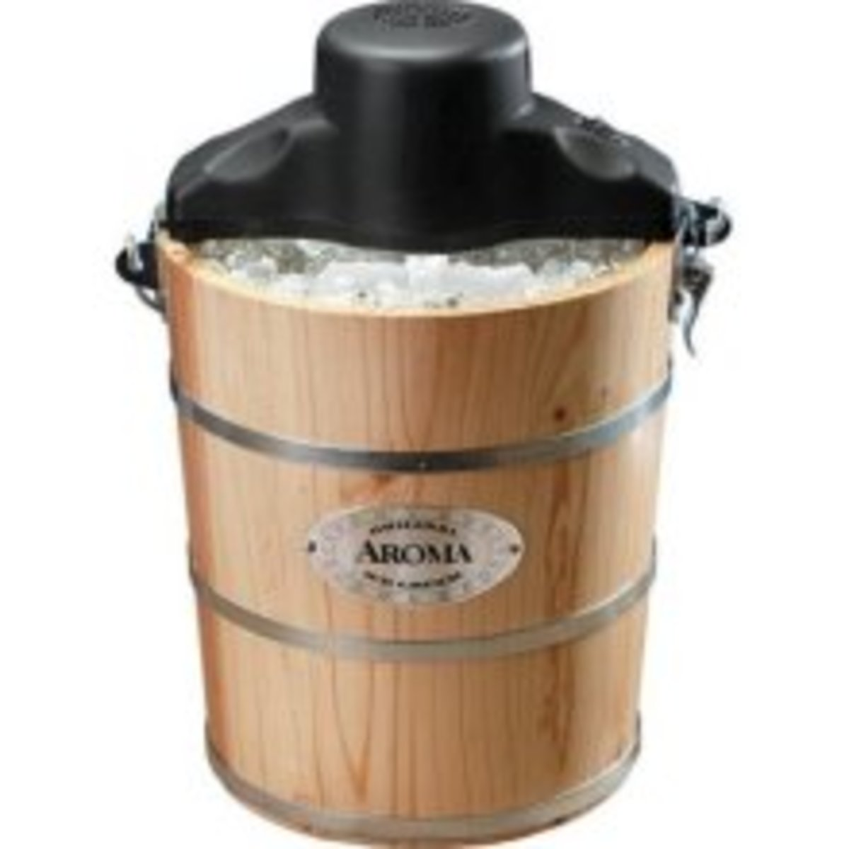 Aroma AIC-204EM 4-Quart Wood Barrel Ice Cream Maker